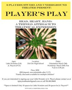 Player's Play Youth Workshop @ Del Oro High School |  |  |